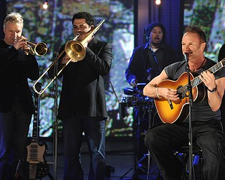 """In this image released by Hope for Haiti Now, Sting performs at """"Hope for Haiti Now: A Global Benefit for Earthquake Relief"""", on Friday, Jan. 22, 2010, in New York. (AP Photo/Evan Agostini/Hope for Haiti Now)"""