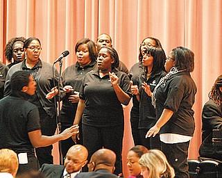 The Vindicator/Robert K. Yosay -----. Rev. Dr. Martin Luther King Jr Diversity Breakfast at YSU Chestnut room - the breakfast with YSU Gospel Choir.