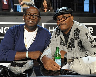 """In this image released by Hope for Haiti Now, Randy Jackson, left, and actor Samuel L. Jackson are shown at """"Hope for Haiti Now: A Global Benefit for Earthquake Relief"""", on Friday, Jan. 22, 2010, in Los Angeles. (AP Photo/Mark Davis, Hope for Haiti Now)"""