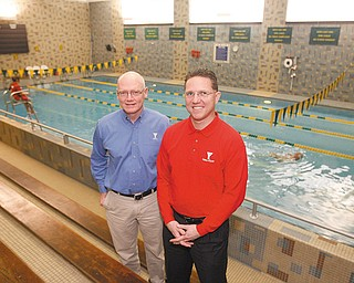 YMCA SUPPORTERS: The Youngstown YMCA begins its 2010 fund-raising campaign with a party Saturday in Austintown. Two of the organization's main facilities are the D.D. and Velma Davis Family Branch in Boardman and the Central YMCA on Champion Street in downtown Youngstown. Posing at the Central Y's lap pool are, from left, Michael Shaffer, director of the Central Y, and Greg Kleeh, director of financial development.