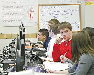 William D. Lewis/The Vindicator Girard HS 9 th grade students in class 1/26.