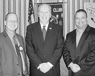 Special to The Vindicator UNITED WAY: Bob Hannon, president and chief professional officer of United Way of Youngstown, was the featured speaker when the Kiwanis Club of Youngstown met at noon Jan. 29 at the YWCA. He spoke of changes he has seen since joining the United Way in September of 2008, of the challenge of meeting its goal this year, and of the agencies that provide assistance. Joining Hannon following his presentation were, from left, Robert Gardner of the Bennett/Gardner Group of the Butler Wick Division of Stifel Nicolaus, and Bryan Kenzie, a branch manager of PNC Bank and president-elect of the Kiwanis Club.