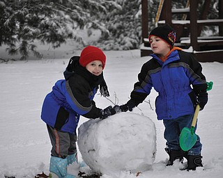 Quinton, 5, and Harrison, 4, Miller of Canfield..