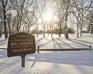 The Vindicator/Lisa-Ann Ishihara--- Mill Creek Park entrance at Wick Recreation Area .