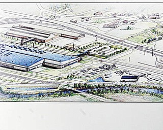 NEW FACILITY: Construction on V&M Star Steel's $650 million expansion will start next month, company officials said. The blue section of the drawing is the addition location.