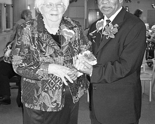 Special to The Vindicator ROYALTY: Valentine's Day was celebrated during a prom Feb. 12 at Antonine Sisters Adult Day Care, 2675 N. Lipkey Road, North Jackson, by more than 30 day-care participants and their guests. A mixture of romantic and upbeat music for listening and dancing was provided by Mary Ann Shank. Those attending elected Paul Graves and Jennie Davies, above, as the king and queen of the prom. Afterward a lunch was served by the Antonine Sisters.