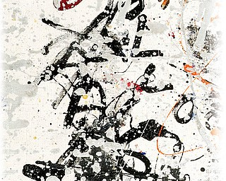 """Jackson Pollock's painting """"Silver and Black"""""""