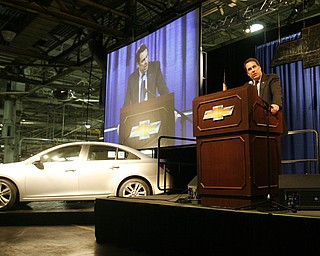 Robert K. Yosay /The Vindicator.Mark Reuss GM President North America talks about bringing the Cruze and the extra shift to Lordstown - 30-