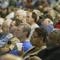 Robert K. Yosay /The Vindicator.Hundreds of workers listen as President North America Mark Reuss - t
