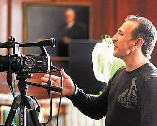 """Ray """"Boom Boom"""" Mancini lends direction during a shooting session in May of 2008 at the Youngstown Club, where the filmmaking team interviewed residents."""