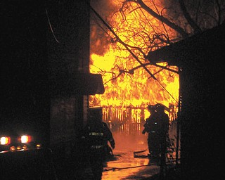 Keith Panning of Youngstown captured this shot of a garage fire across the street last month..