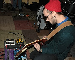 Anthony Cucitrone, 22, of Boardman, plays at the Lemon Grove with his band Braille on Friday, Feb. 26, 2010.