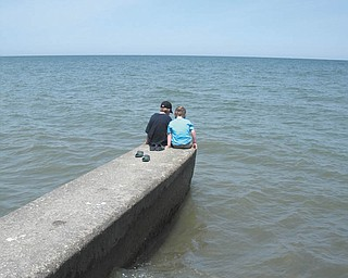 Jackie LeViseur sent this picture of her nephews, Brady and Casey Leugers of Canfield, at a pier in Geneva-on-the-Lake..