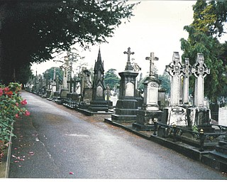 Sally Waters took this picture in August 1995 in a cemetery outside of Dublin, Ireland..
