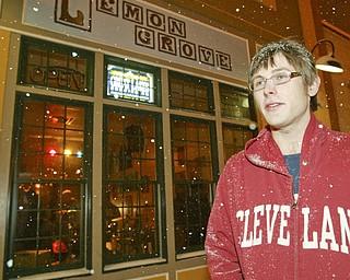 The Vindicator Jacob Harver, The Lemon Grove Cafe owner, outside his downtown establishment of Feb. 26.