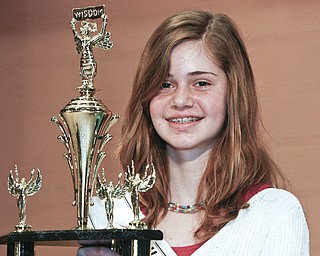 ROBERT K. YOSAY | THE VINDICATOR..And the winners are  - Second Place -  Willow Creek Learning Center - Lauren Ann Ritz - Champion -in the 2010 -77th Vindicator Spelling Bee was held  at the Chestnut Room at Kilcawley Center at YSU - 30-