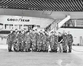 """The Vindicator Lesson in Aeronautics Thirty five members of Youngstown Civil Air Patrol, ARS Composite Squadron, toured the Goodyear Wingfoot Lake Airship Facility in Suffield on Jan. 31. The group viewed a video on the history of Goodyear's airships, learned the blimp is made of a rubber-like material about as thick as a rubber band, and viewed a gondola and control surfaces that are being refurbished. From the observation area, they watched as the """"Spirit of Goodyear"""" took flight."""