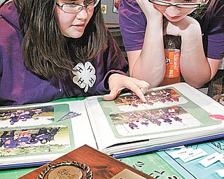 William D. Lewis| The Vindicator  Danielle Yuhas, 14, left, of Boardman and Erin Styka, 13, of Austintown , both members of the Youngstown Tailwaggers 4-H club and were participating 4-H community Day at Lord of Life Luthern Church in Canfield Saturday 3-20-10.