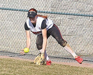 YSU SOFTBALL - Autumn Grove fields a ball Thursday afternoon in Canfield.