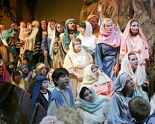 William D. Lewis The Vindicator Cast memberes during Passion Play at Highway Tabernacle in Austintown.