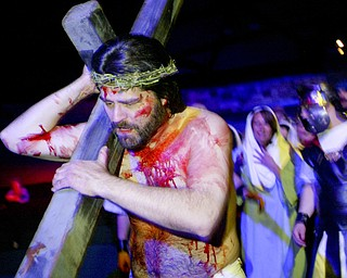 William D. Lewis The Vindicator Jesus, portrayed by Bob Little of McDonald  during Passion Play at Highway Tabernacle in Austintown.