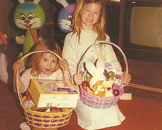 Necole Tibolla of Raleigh, N.C., formerly of Poland, and Jamie Corvino of Apex, N.C ., formerly of Poland, (left), are pictured on Easter Sunday in 1988. Necole was born the day before Easter 30 years ago. Happy birthday, Necole!.
