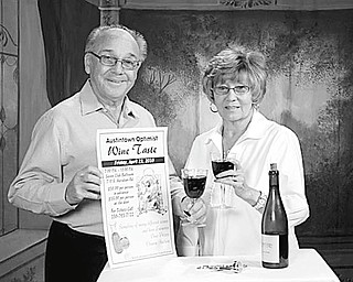 The great taste: Wines to be available for sampling at the 5th annual wine taste sponsored by Austintown Optimist Club from 7 to 10 p.m. April 23 at the Saxon Club, 710 S. Meridian Road, are approved by Richard and Nancy Stoy, club members. In addition to a selection of wines, a variety of hot and cold hors d'oeuvres, pasta dishes, fruits, cheeses and pastries will be available. Advance tickets are $30, and tickets at the door are $35. For tickets or information call (330) 793-7122 or (330) 793-2384. Proceeds will provide scholarships for area youths and community activities.