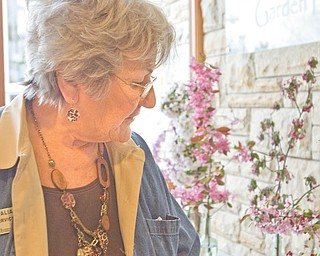 Beverly Italiano, volunteer coordinator and receptionist for Fellows Riverside Gardens, discusses the types of horticulture entries in Saturday and Sunday's spring flower show.