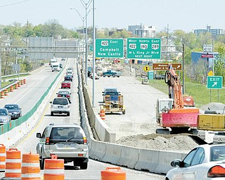 Work is underway at U.S. Route 422, Belmont Avenue and Wirt Street, Youngstown, on a $10.6 million Ohio Department of Transportation District 4 project to resurface and replace guardrail on state Route 193 from Crescent Street to U.S. 422 and on U.S. 422 from Route 193 to Belmont.