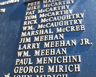 Lowellville American Legion Post 247 had Falcon Foundry, Lowellville, make a new plaque to memorialize John Mirich, who was left out of the original plaque.