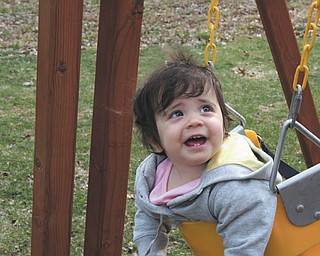 Joanna White of Canfield shared this picture of her daughter, Gemma, 1, year old, enjoying her swing.