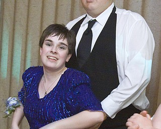 LISA-ANN ISHIHARA | THE VINDICATOR...Emily Ayers, 18, Salem and her boyfriend, Adam Buckius, 16, Salem at the annual tri county special needs prom, held at Anthone's.