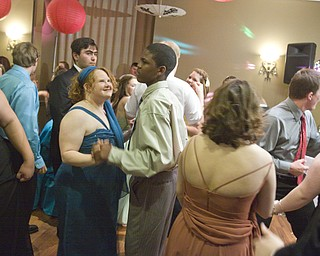 LISA-ANN ISHIHARA | THE VINDICATOR...High school students dance at the annual tri county special needs prom, held at Anthone's.