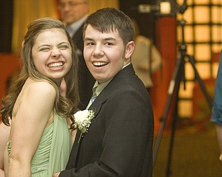 LISA-ANN ISHIHARA | THE VINDICATOR...Beth Schorsten, 18, Boardman High School and her friend Ryan Brown, 19, Boardman, at the annual tri county special needs prom, held at Anthone's.