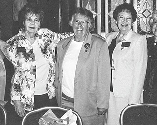 Ohio Federation of Republican Women conducted a spring conference April 23-24 at Wright Patterson Air Force Base in Dayton. Attendees toured the Fisher House, where military families stay at no charge while a family member is hospitalized. Warren Republican Women's Club donated $1,000 to the house. Among those in attendance were, from left, Carol Griffiths, president of WRWC; Eddie Wolcott, OFRW N.E. District vice president; Kay Ayres, vice chairman of the Ohio Republican Party; Jean Turner, OFRW president; and Ann Brown, OFRW parliamentarian. The conference speaker was George Sleigh, a 9/11 survivor of the 91st floor of the World Trade Center's North Tower.