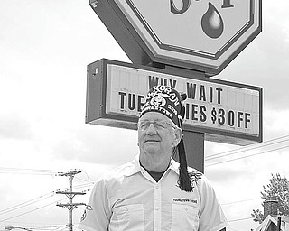 The Shriners Club of Youngstown is partnering with a local discount deals program to raise funds for the organization. The fundraiser will feature RingGO Deals discount cards, which provide discounts on a wide variety of items. RingGO Deal will donate 50 percent of each sale to the Shriners. Above, Sam McKinney, president of the local club, stands in front of a sign for The Lube Stop, a participant in the program. For more information contact McKinney at 330-332-9810 or Amy Murry at 330-719-2003.