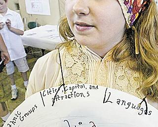Alli Moreschi dressed as a Croatian woman.