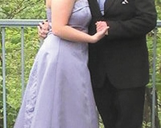 Katelynn Jacobs and Alan Streb attended this yearÕs prom at Mahoning County Career and Technical Center.