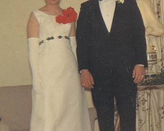 Peggy (Vargo) Yeager and Frank Saccomen attended the Hubbard High School prom in 1966.