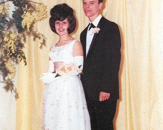 Richard and Theresa (Brajkovich) Szenborn of Campbell are shown at their Campbell Memorial high School prom in May of 1965. There were neighbors, then high-school sweethearts who will soon celebrate their 42nd wedding anniversary.