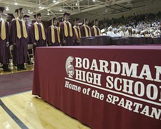 ROBERT K. YOSAY | THE VINDICATOR..Line up as Boardman celebrated the graduation at Boardman High Schools Graduation 2010 held at the school -30