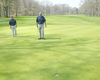ROBERT K. YOSAY | THE VINDICATOR..Mill Creek Golf Course with Dennis Miller golf Director   ( blue hat ) and  Andy Santor  head professional   in the red hat -30-