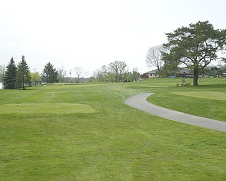 ROBERT K. YOSAY | THE VINDICATOR..The Lake Club  course  in Poland - Mike Ferante   ( blue stripes)  Jim Pipino ( solid blue and Derrick Naper -30-
