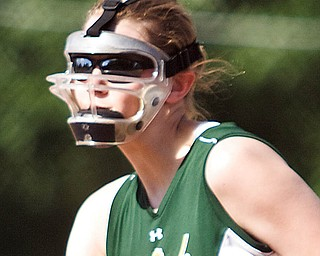 LISA ANN ISHIHARA | THE VINDICATOR...Ursuline Casey Lower (22) pitches for Mahoning County against Trumbull County during the 2010 High School Softball All Stars game at Mauthe Park in Struthers, Wednesday June 16, 2010