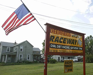 "ROBERT K. YOSAY | THE VINDICATOR..Deerfield Raceway on the outskirts of Deerfield on State Route 224 is the racetrack that "" everyone drives by ! ""  but on Saturday some 85 drivers test their skills against each other and the 1/4 mile dirt track -30=-"