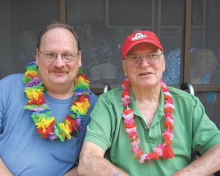 """Megan Hruska sent this picture of her father, James Sullivan, and grandfather, Gene Sullivan, of Canfield, saying: """"They both have worked very hard to give their families a good life but always find the time to have fun."""""""