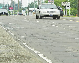 This stretch of U.S. Route 224 in Canfi eld is slated to be repaved this summer after work is complete on repaving state Route 46 in Howland.