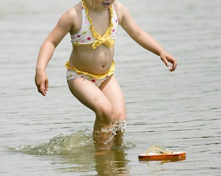 ROBERT K. YOSAY | THE VINDICATOR..HOT TIMES AHEAD...  with temperatures and humidity near 90%  relief is in sight  at area Lakes and Recreation areas...Playing in the beach at Mosquito Lake State Park  are Sofie (ok) Simpson 2.5 . she was there with her mom Tammy - both are from Mecca --  Also enjoying the sandy beach that has recently been restocked with sand and groomed  is Mathew Szorady  3 and Eric Gosling 4 ( brothers ) they were there with their gramdam Denise Szorady all of Warren -30..... -30-