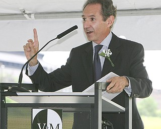 ROBERT K. YOSAY | THE VINDICATOR..Philippe Crouzet Charman of Vallourec.V & M and its parent company, Vallourec, will host dignitaries from federal, state, county and local government, along with partners in the business community and more than 100 employees for a groundbreaking ceremony to officially begin construction of the companyÕs new mill..The planned mill Ñ a state-of-the-art, hot-rolling, seamless pipe mill Ñ represents a $650 million investment for Vallourec and will lead to the creation of 750 construction and permanent mill jobs. -30--