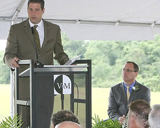 ROBERT K. YOSAY | THE VINDICATOR..Tim Ryan and Joel Mastervich .V & M and its parent company, Vallourec, will host dignitaries from federal, state, county and local government, along with partners in the business community and more than 100 employees for a groundbreaking ceremony to officially begin construction of the companyÕs new mill..The planned mill Ñ a state-of-the-art, hot-rolling, seamless pipe mill Ñ represents a $650 million investment for Vallourec and will lead to the creation of 750 construction and permanent mill jobs. -30--
